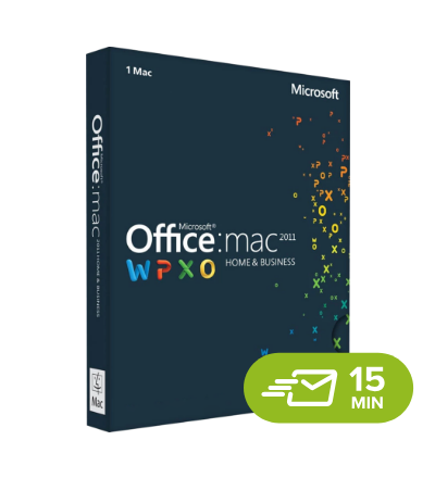Office 2011 Home and Business for MAC, digital license