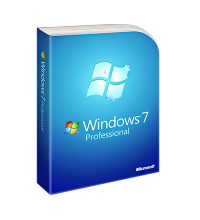 Windows 7 Professional, physical license with DVD