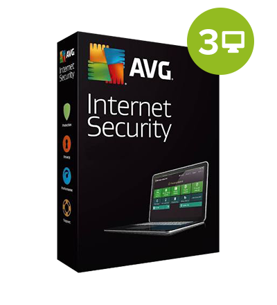AVG Internet Security 2018 – 1-Year / 3 PCs, digital license
