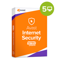 Avast Internet Security 2018 – 1-Year / 5 PCs, digital license